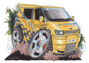 Roy Wood Cartoon van image